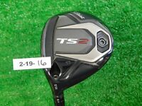 Titleist TS2 16.5* Left Hand 3 Wood HZRDUS Smoke 6.0 Stiff Graphite Excellent