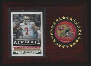 2013 Score Football #248 Colin Kaepernick San Francisco 49ers Football Plaque