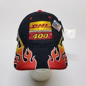2004 DHL 400 AT MICHIGAN NASCAR RACING EVENT HAT AND PIN.