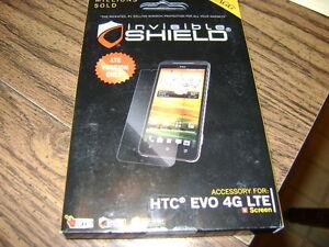 Zagg invisible shield screen protector HTC Evo 4G LTE (new)