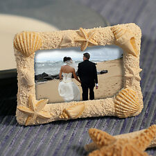 Sand and Shell Photo or Place Card Frames Set of 10 ~ Beach Wedding