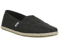 Mens Toms Black Textile Slip on  Casual Shoes Size UK 10 *Ex Display