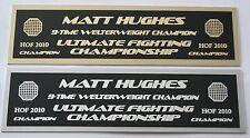 Matt Hughes UFC nameplate for signed mma gloves photo or case