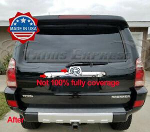 fit:2003-2009 Toyota 4Runner Trunk Rear Door Trim Sticker Flat Cover Tailgate