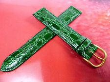 17 mm Verde Cinturino Orologio Lavorazione a Coccodrillo pelle 1783