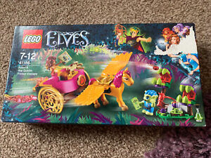 NEW & SEALED Lego Elves 41186 Azari And The Goblin Forest Escape Damaged Box