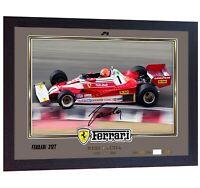 F1 icon Niki Lauda signed autographed photo print Ferrari FRAMED