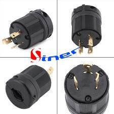 NEMA L6-30P 30 Amp 250 Volt Twist Lock 3 Wire Electrical Power Plug Connector US
