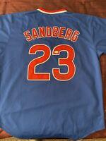 Ryne Sandberg Chicago Cubs HOF Signed Autographed Jersey JSA