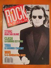Rock & Folk N° 253 du 06/1988-Sting-Clash-Tina,le dernier concert-Poster des Who