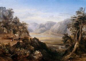 Conrad Martens - Wiseman's Ferry in 1838, Australian Art, Museum Canvas Print