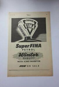 Super Fina Petrol Advert from 1955 - Original Ad Advertisement