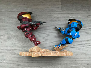Halo Icons Spartan Warzone Red vs Blue Figures Loot Crate