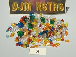 LEGO 80g JOBLOT SMALL TRANSLUCENT COLOURED & CLEAR PIECES ..VGC *USED* #8