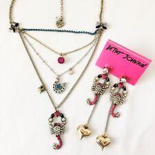 Betsey Johnson 'Flights of Fancy' Scorpion Earrings & Necklace  *Retired*