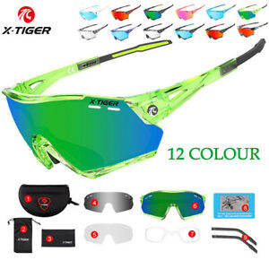 X-TIGER Polarized Sport Sunglasses Cycling Sunglasses  Bike Goggles (3 Lenses)