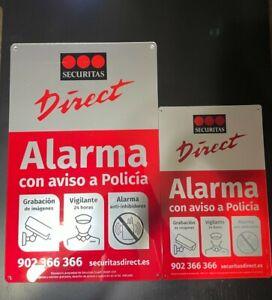 Placa alarma disuasoria grande + mediana Securitas Direct. MODELO 2019