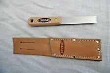 "Hyde Wood Handle 3/4""Stiff Scraper with Leather Sheath"