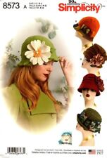 Simplicity Sewing Pattern 8573 Retro Vintage Hats Cloche Hats Size S-L NEW
