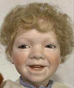 "John 11"" Boy Doll By Linda Steele UFDC 1989 St. Louis Convention Souvenir Signed"