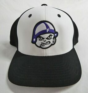 Freemont Ross Ohio Roscoe Little Giant Mean Face Mascot Fitted Baseball Cap L-XL
