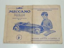 HORNBY MECCANO CONSTRUCTOR CAR INSTRUCTIONS OUTFIT No1 (281)
