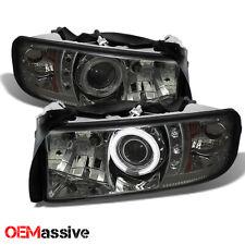 Fits 94-01 Dodge Ram 1500/2500/3500 Smoke CCFL Halo LED Projector Headlights
