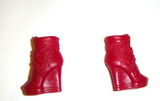 Barbie Shoes Red Ankle Boot Shoes For Fashion Fever Barbie Dolls sh358