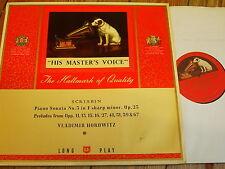 ALP 1429 Scriabin Piano Sonata No. 3 / Preludes / Horovitz R/G