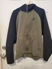 Nike Tech Fleece Full Zip Hoodie Anthracite/Green 928483-325 Men's Size XL