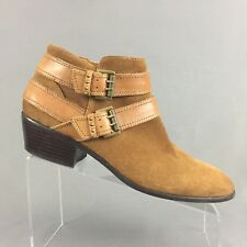 Sam Edelman Pippen Ankle Boots Womens 10 M Cognac Brown Suede Leather Booties