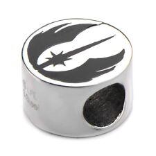 ACERO INOXIDABLE Star Wars orden Jedi Símbolo Brazalete De Cuentas Charm