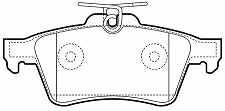 Cadillac BLS 2006 On  New Rear Brake Pads