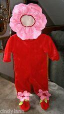 ADORABLE VELVETY VERY PLUSH ROSE FLOWER DRESS-UP COSTUME HALLOWEEN size 2 - 4