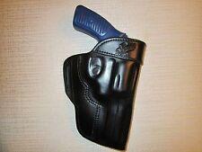 """FITS: RUGER SP101 357 mag, with 3"""" barrel, formed leather owb, belt slot holster"""