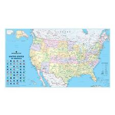 USA Political Laminated Wall Map For Business