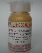 DECOUPAGE - SMALTO DECORATIVO SABBIATO  ALL'ACQUA ORO PURO  50 ML