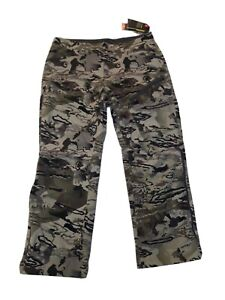 Under Armour Strom Coldgear Mid Season Hunting Grit Barren Camo Pants Size 34