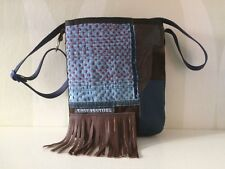 Denim Patchwork Bag with Leather VanStoel#185