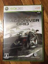 RACE DRIVER GRID (Microsoft Xbox 360 2008) Japan Import BRAND NEW
