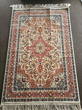 PERSIAN CARPET 100% SILK, MADE IN AZERBAIJAN 100cm x 155cm **ABSOLUTE BARGAIN**
