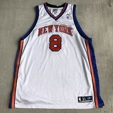 New York Knicks Authentic Latrell Sprewell Jersey White Reebok Sz 56 VTG NBA