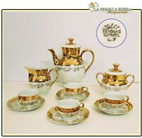 Servizio da caffe antico in porcellana Richard ginori anni 40 tazze tazzine oro