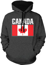Canada Flag Canadian Maple Leaf Pride Olympics 2-tone Hoodie Pullover