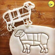 Lamb cookie cutter |Butcher's guide mutton cuts |chef chart kitchen diagram cook