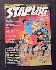 1977 STARLOG Magazine #3 VG- 3.5 Star Trek - Six Million Dollar Man