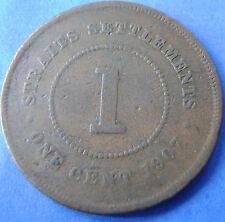 Straits Settlements   1 cent one cent 1907 King Edward KM# 19