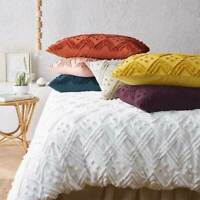 Renee Taylor Medallion Cotton Vintage washed Tufted Quilt Cover Set 7-Colours