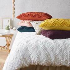 BRAND NEW 100% Cotton Chenille Vintage Washed Tufted Quilt Cover Set  / Coverlet