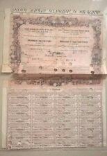 AZIONE TITOLO OBBLIGAZIONE SOCIETA' GENERALE DELLE STRADE FERRATE ROMANE 1860